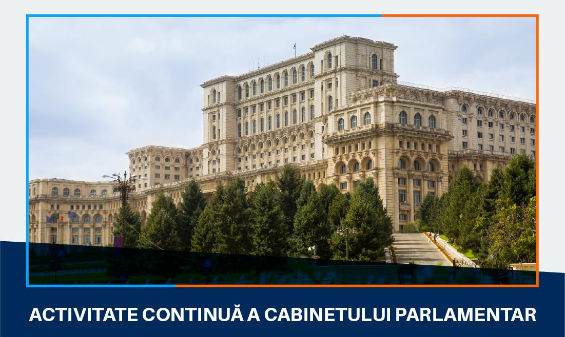 Activitatea continuă a cabinetului parlamentar