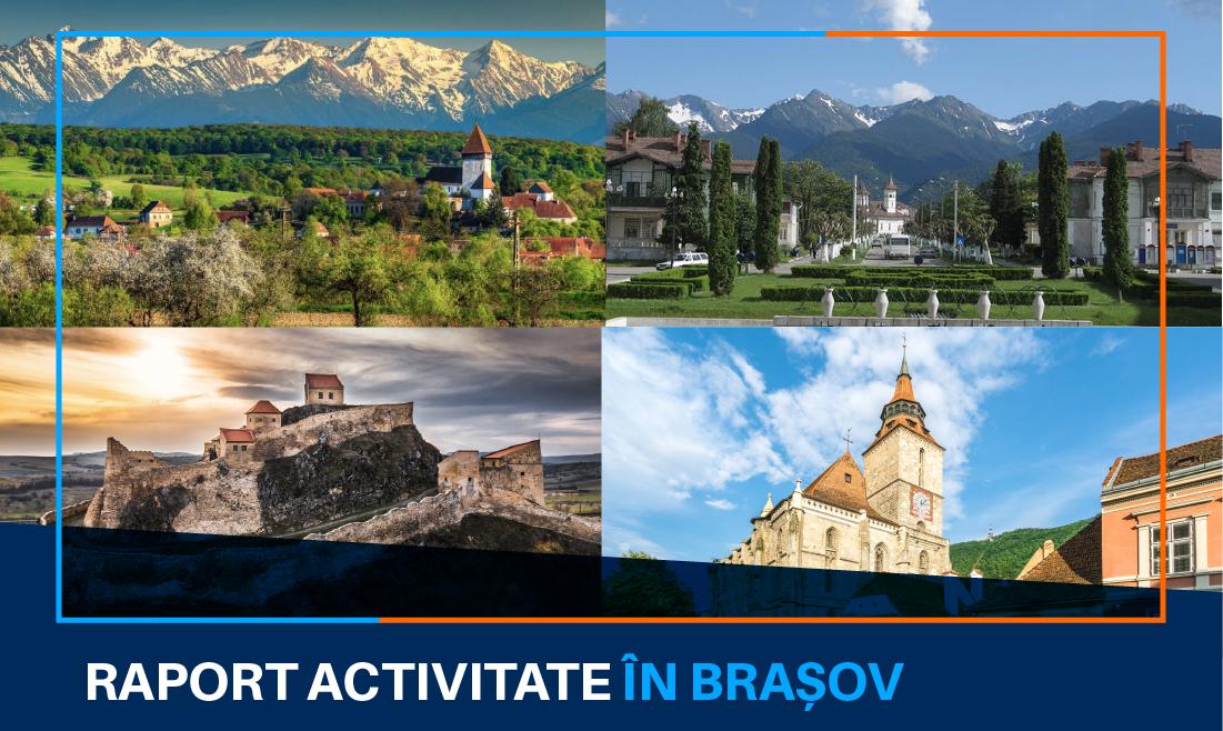 Activitatea continuă în județul Brașov